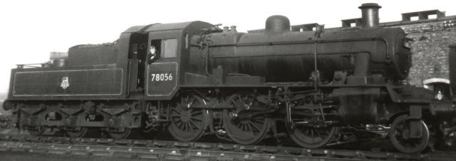 Smallest of the British Standard Moguls were the 65 locomotives numbered 78000 to 78064, designed at Derby and built entirely at Darlington from December 1952 to November 1956 - for a while sharing the erecting shop of the former North Eastern Railway works with their inspiration, the LMS Ivatt 2MT 2-6-0s.