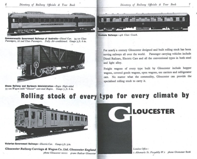 Advertisement in the 1957 edition of the Directory of Railway Officials and Yearbook
