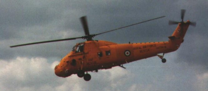 A Westland Wessex from RAF Chivenor in Search and Rescue colours from 1980