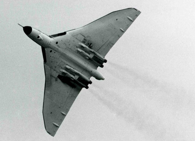 The Gloster Javelin ( seen above on in a painting on the cover of The Aeroplane magazine ) first took to the air on 26 November 1951 followed some nine months later in August 1952 by the Avro Vulcan ( seen below at an air display at Staverton in 1973 )  and thanks to the dedication of enthusiasts and the generosity of supporters and the general public, a handful of these classic aircraft are still preserved sixty years on.