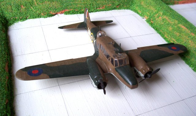 This model was made as part of a Duke of Edinburgh's Bronze Award and Mr Thomas was kind enough to lend me books on the RAF's first twin engined monoplane with a retractable undercarriage and even let me visit the cockpit