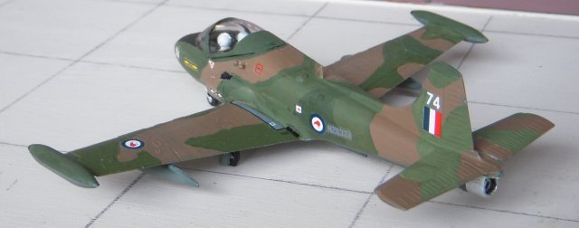 Although available in the colours of the Sultan of Oman's Air Force in the 1970s, the Airfix 1/72 scale model Strikemaster is currently issued with box artwork and decals for NZ6374 of 14 Squadron Royal New Zealand Air Force based at Ohakea in 1978, as pictured above. Other Strikemaster options are Mark 84 numbers 301(B) and 303 (D) of 130 Squadron of the Royal Singapore Air Force. Both aircraft boast a black edged yellow fuselage sash on the curve of the fin but while 301 has the older red-white-red roundel, 303 - depicted later in the 1970s - has the red and white winged ying-yang.