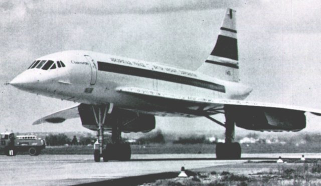 One such example is the secondary main line between Palmerston North and Gisborne in New Zealand which crosses one of Gisborne Airport's runways.  When approaching from either side, train drivers are obliged to stop and telephone air trafffic control for permission to proceed. Another example was - from 1943 to 1971 - RAF Ballykelly in County Londonderry, where one runway was extended over the main line from Coleraine to Derry.  However, in Northern Ireland trains were given right of way over landing aircraft.  Closer to home, the first flight of the prototype British Concorde G-BSST (above ) in March 1969 was delayed as it waited for a train to clear the line separating hangars and runway at Filton.