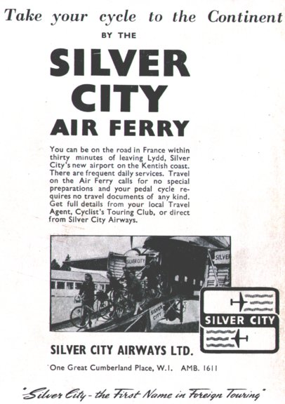 Silver City Airways advertisement from Ian Allen Civil Aircraft Recognition 1955