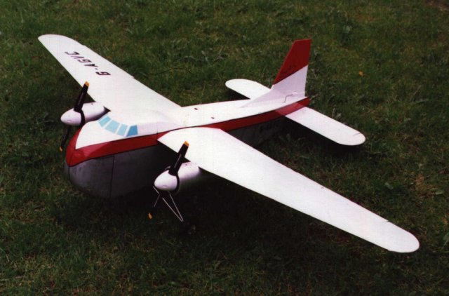The model that started this research! Malcolm Morgan's G-AGVC sports a Mark 31 type tail and was built as an experiment to prove the feasibility of a larger model with more efficient and powerful electric motors driving four bladed propellers.
