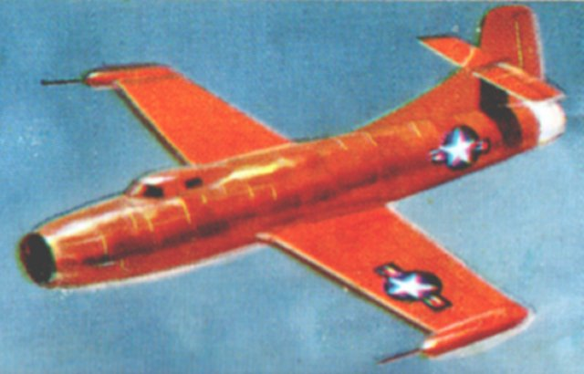 In 1945 the Douglas company designed a research aircraft to obtain high speed data. After completing only 14 hours flying time, the Skystreak piloted by Commander Turner F. Caldwell of the US Navy achieved 640.5 mph to win the World Record. Five days later, on 25 August 1947, Major Marion F. Carl, US Marine Corps raised it again, this time to 650.5 mph. The aircraft shown is in the shape used for the first attempt. A modified canopy and windscreen was fitted for the second attempt.