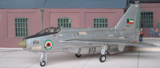 F.53s (pictured below ) and T.55s for Kuwait were given a K suffix but differed little from the Saudi versions. The Saudi's F.53s saw brief action in December 1969 during a brief conflict in the South Yemen border area. Several ground attack sorties were flown, these ending the situation almost without any help from the Saudi army. Saudi pilots loved the Lightning, and had a habit of making noisy passes over villages - with the result that many locals thought the sonic booms were a manifestation of Allah!
