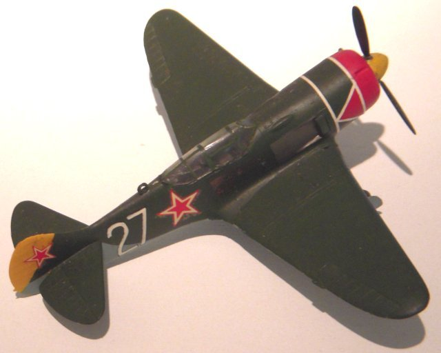The Lavotchkin La-7 marked the peak of development of a series of piston engined single seat fighters which, like the Poliarkov I-16 and the British De Havilland Mosquito, was largely made of wood.