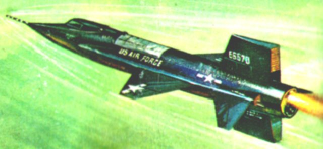 However, the X-15 had to do more than merely fly very fast and high. Above Mach 2, aircraft encounter the so-called Heat Barrier - a phenomenon caused by friction between the aircraft itself and the particles of air it passes through. Even the leading edges of the wings and tailplane of the nickel-alloy steel built X-15 glowed red at maximum velocity despite operating at the most rarefied edge of the Earth's atmosphere.