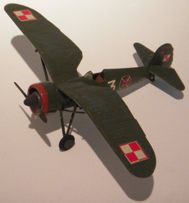 Designed by Ing Wsiewolod Jakimiuk,, the first PZL P11C entered Polish Air Force service in 1935 and was powered by a version of the Bristol Mercury IVS2 built in the Czech Skoda works.  Popularly known as the Jedenaska (Eleventh) , the P11C equipped twelve squadrons at the outbreak of war in September 1939.  During the seventeen days of the Polish campaign, 114 P11Cs were lost but not before they had accounted for over 120 Luftwaffe aircraft and extensively strafed the advancing Wehrmacht formations.