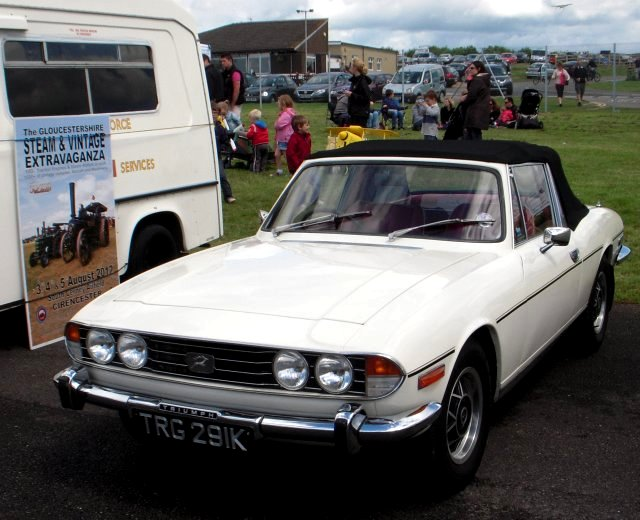 The Triumph Stag convertible coupe was intended as a rival to the Mercedes Benz SL class sports cars and sold from 1970 to 1978, having been developed from the monocoque 1963 Triumph 2000 saloon and styled by Giovanni Michelotti.