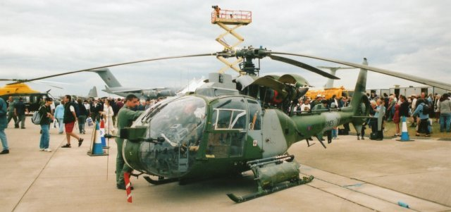 Westland Gazelle AH1 XW851 represented 847 Squadron Fleet Air Arm