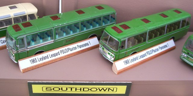 Two more of Southdown's Leyland Leopard PSU3s - from 1965 and 1968 respectively - had Plaxton Panorama 1 coach bodies.