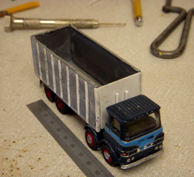 When it comes to accurately representing this ERF coal lorry from the John Parsons of Newent fleet, the Mellor Brothers will go to any length!