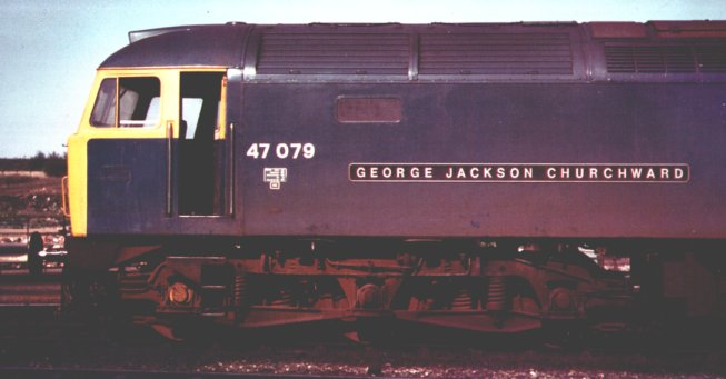 "47 079 ""George Jackson Churchward"" the only locomotive I have helped measure."