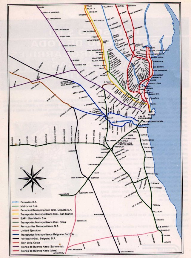 English Electric Exportese - Argentine railway map