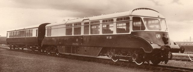 In fact Stewart was able to supply me with this sepia postcard of Gloucester RCW built GWR railcar 18, whose image was the undoubted inspiration for the Wills's Cigarette card I use as the mascot of this website!