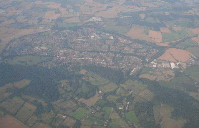 Further north was the bag-shaped Herefordshire town of Ledbury, defined at its northern edge by the railway from Worcester running towards Hereford and disappearing out of the frame half way up the right hand side