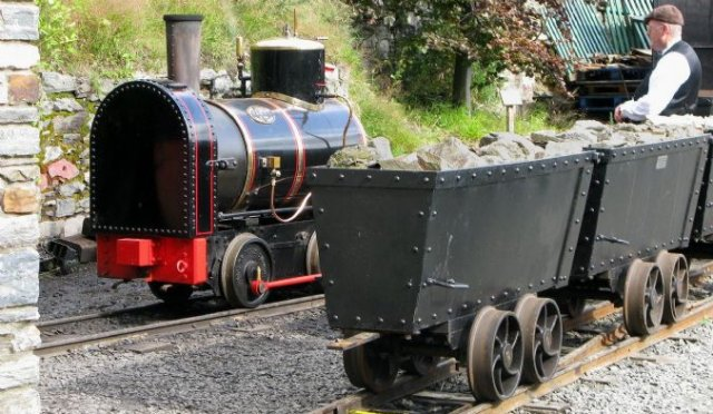 "Restoration of part of the former mine tramway was proposed by the Laxey and Lonan Heritage Trust in May 1998, as a project to celebrate the new millennium and after much site clearance and track laying replicas of ""Ant"" and ""Bee"" were ordered from Great Northern Steam Ltd.  A new engine shed was built on the exact footprint of the old shed and an order was placed with Alan Keefe Ltd of Ross on Wye for a small carriage."