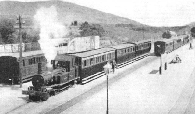 Although nominally an independent line opened in 1886, this was in reality worked as a 2/12 mile extension of the Manx Northern Railway from the thriving lead and silver mines at Foxdale to the station at St John's - pictured above.  However, after the mines closed in 1911 the line fell into disuse, passenger traffic ceasing in 1943 although freight continued until 1960.