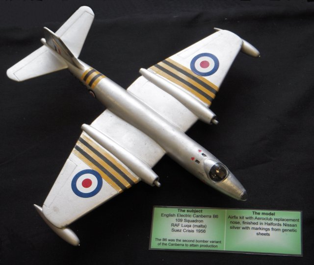 As a result, RAF Vickers Valiant and English Electric Canberra aircraft began bombing Egyptian airfields at 10.30pm on 31 October 1956 from an altitude of 40 000' to avoid interception by Egyptian jet fighters. Although the bases at Almaza, Inchas, Abu Suweir, Kabrit and Cairo International Airport were damaged by both contact and delayed-action bombs only 14 Egyptian aircraft were destroyed on the ground - although Egyptian, Czech and Soviet pilots immediately began dispersing their remaining serviceable aircraft either to remote locations or out of Egypt altogether.