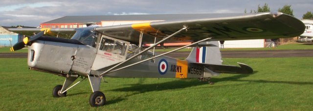 Auster Aircraft Limited began life in 1938 as Taylorcraft Aeroplanes ( England ) Limited making light observation aircraft designed by the Taylorcraft Aircraft Corporation of America at the Britannia Works at Thurmaston, near Leicester.