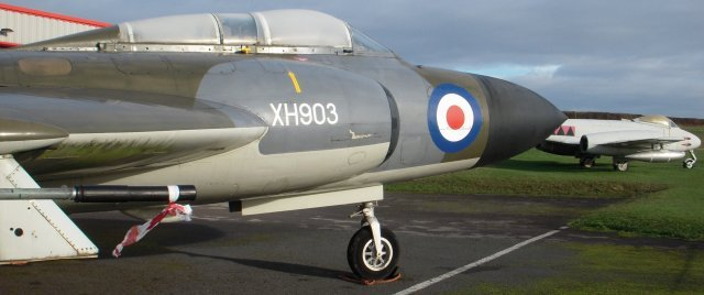 Just as WH364 had kindly been towed to the area below The Flying Shack courtesy of the Gloucestershire Airport authorities, so Gloster Javelin FAW9 spent Diamond Delta Day excused from its normal duties as gate guardian near the car park.