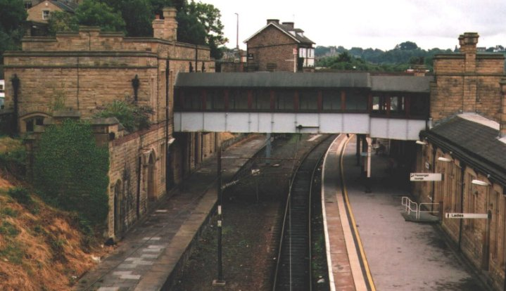 View South over Castle Branch platforms from over bridge