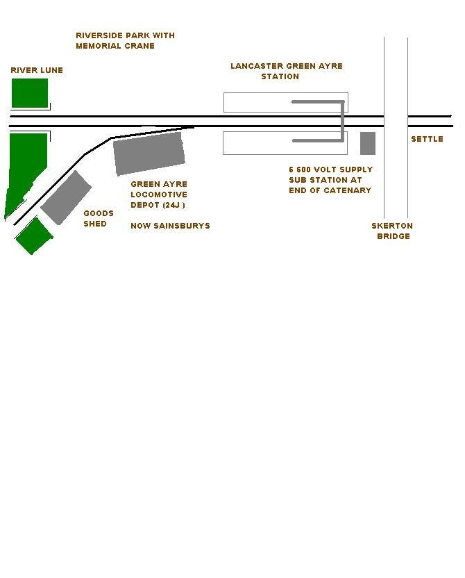 Schematic map of Lancaster Green Ayre