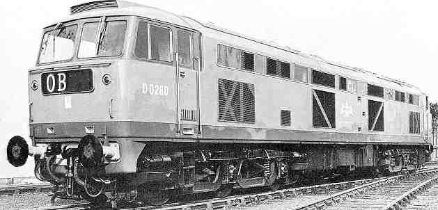 D0280 Falcon newly outshopped by Brush at Finsbury Park on 13 October 1961
