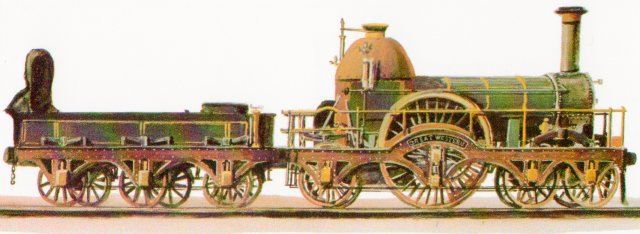 The Fire Fly class handled the principal trains from London to Bristol when they were new and were capable of hauling trains weighing 80 tons at speeds up to 60 miles per hour. One of the class also hauled the first royal train, taking Queen Victoria from Slough to London, in 1842.