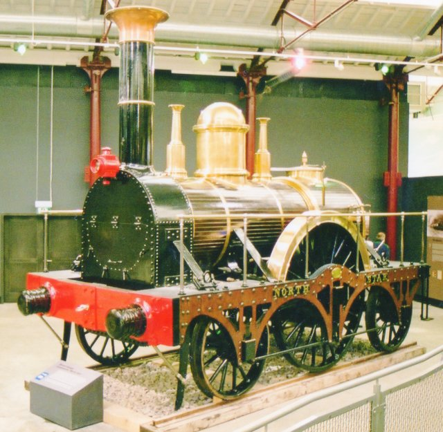 "Some parts of the locomotive were saved however and incorporated in a replica built at Swindon for the Darlington Railway Centenary celebrations of 1925.  This replica ""North Star"" is now preserved in Steam  at Swindon."