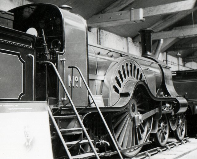 Meanwhile, GNR Number 1 was to make history again in 1938 when it was taken off display at the LNER's York Railway museum and restored to steam: firstly to promote new sets of carriages built for the contemporary Flying Scotsman and then as the first British preserved locomotive to haul an enthusiasts railtour.  The promotional journeys, contrasting seven vintage six-wheeled carriages with the latest articulated 14 car sets, took the venerable 4-2-2 from Kings Cross to Grantham and Cambridge while the inaugural Railway Correspondence and Travel Society tour on 11 September 1938 reached Peterborough.