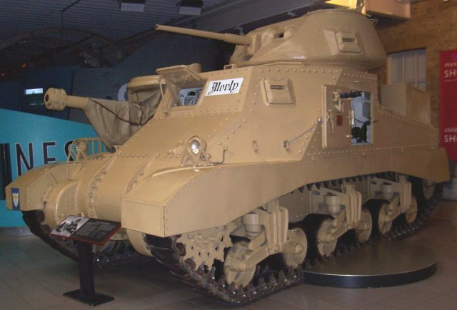 "Also preserved in London's Imperial War Museum is the American built M3A3 Grant tank used by Lieutenant General ( Later Field Marshall Lord ) Montgomery while in command of the British Eighth Army. Like its cousin the Lee - used by American forces - the Grant's main gun was mounted on the hull rather than the turret. However, in this case the turret gun is a wooden mock-up used to make ""Monty's"" tank look like all the other Grants under his command. The space normally occupied by the breech mechanism and shells was taken up by command radio equipment."
