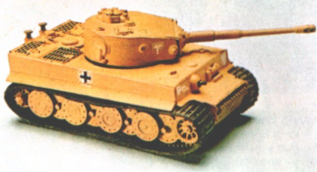 While the Churchill was a throwback to the tank strategies of the Great War however, the blitzkrieg tactics of Nazi Generals Von Runstedt and Guderian favoured faster fighting vehicles for use with shock troops and air power. The Panzer Mk IV – used against Poland in 1939 and stopping just short of Dunkirk in 1940 – reflected this, although at Rastenburg on 20 April 1942 Adolf Hitler received an unusual birthday present – the choice of two new heavy tank designs offered by Porsche and Henschel. Both were built to a Wehrmacht specification for a 45 ton vehicle mounting a modified version of the 88mm anti-aircraft gun which was also a lethal tank-buster.
