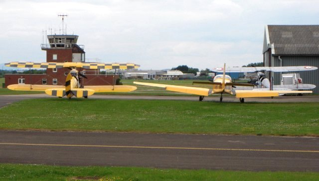 Tiger Airways - based at the far end of the public perimeter road of Gloucestershire Airport -