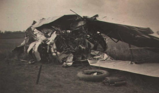 A more serious Atlas accident at Grantham in 1931. Luckily the pilot jumped clear!