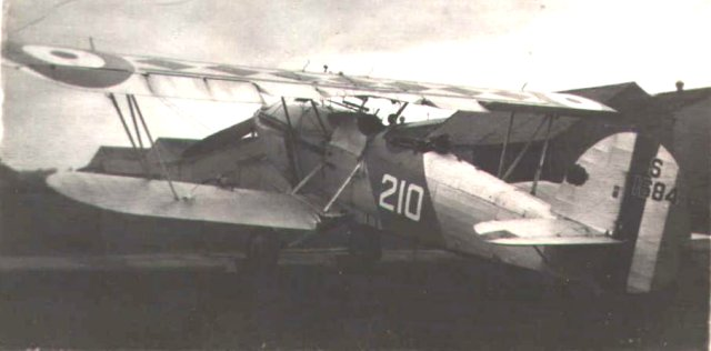 Hawker Osprey S1684 of the Fleet Air Arm at Catterick in September1934