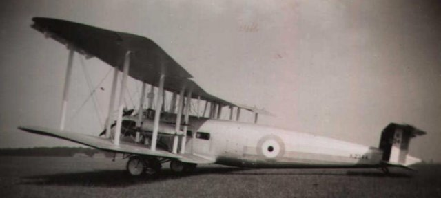 Vickers Victoria troop transport at Cranwell September 1933