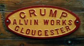"Although the red and yellow cast iron plate bearing the words ""CRUMP ALVIN WORKS GLOUCESTER"" is not strictly speaking a railway relic it does hark back to the days when Gloucester played a more important role in British manufacturing industry, itself nurtured by an expansive railway network."