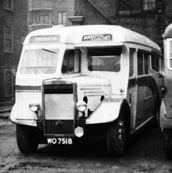 In 1932/33, Red & White Services of Chepstow took delivery of six Gloster-Gardner 6LWs with GRC&W C30R (coach type 30 seat rear entry) bodies. Numbered 223-229, they were registered in the WOXXXX (Monmouthshire) series. It is said that the unusual seven-bay bodies were not the most robust products and, in 1938, at least number 223 was re-bodied by Duple as C32F (see second photo). They were withdrawn between 1948 and 1951.