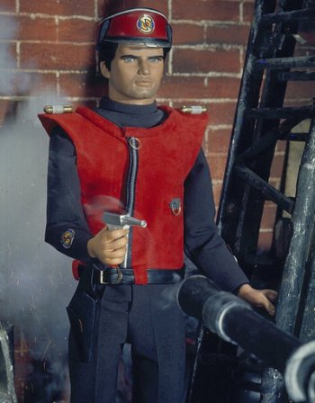 "In contrast to the plummy tones of Paul Temple, Matthews is said to have modelled his voice for Captain Scarlet, the Mysteron-battling hero in Gerry Anderson's sci-fi series, on the silky, mid-Atlantic English of Cary Grant, though in fact Matthews admitted it was more ""Tony Curtis impersonating Cary Grant in Some Like it Hot""."
