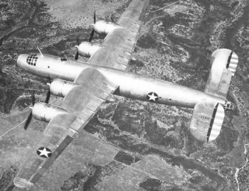The twin tail of the B-24 was initially used on all three XB-32s although neither this nor a replacement B-29 single fin fitted to the third prototype provided sufficient stability. For this reason the 118 production B-32s eventually built all had an even taller single tail.