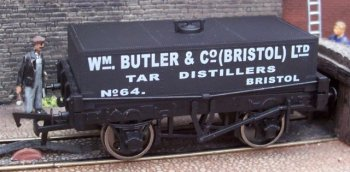 Although I normally only buy models of vehicles built by the Gloucester Railway Carriage and Wagon Company this particular item - B738 in the Dapol range - was acquired for use on Capital Works not only because of its evocative late Victorian design but because it represented a little known realm of industry: Gloucestershire's Chemical Romance.
