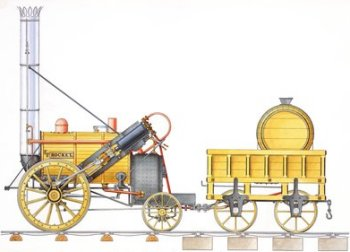 "Interestingly, C. Kurtz & Son provided a link between the Gloucester Railway Carriage and Wagon Company Limited and the earliest days of passenger railways as the bright yellow lead chromate pigment for the paint used on George Stephenson's ""Rocket"" and the Liverpool & Manchester Railway's First Class carriages had been introduced to Britain in 1800 by a German chemist called Kurtz, who set up a factory in Manchester. The colour had been popularised for horse drawn coaches by Princess Charlotte and was still in vogue in the 1830s."