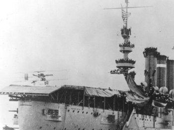 What soon became apparent was the need both to recover wheeled aircraft on to a moving ship and to be able to launch a number of aircraft in quick succession both for attack and reconnaissance missions and to fly combat air patrols over the launching ship and other nearby friendly vessels.