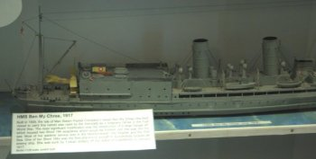 "The Royal Navy would never launch a manned flying machine from a submarine again, although it had been one of the first military services to launch and recover seaplanes from surface ships. This scratchbuilt 1/128 scale model of HMS Ben My Chree can be found in the Manx Air and Military Museum at Ronaldsway on the Isle of Man and the caption reads: "" Built in 1908, The Isle of Man Steam Packet Company's vessel Ben My Chree (the third vessel to carry this name) was used by the Admiralty as a seaplane carrier in the First World War. The most significant modification was the construction of a large hangar aft, which housed two Short 184 seaplanes which could be hoisted over the side into the sea. Most of her wartime service was in the Mediterranean, the Aegean and the Red Sea. One of her Short 184s was the first ship-borne aircraft to successfully torpedo an enemy ship. She was sunk by Turkish artillery off the island of Castellorizo in January 1917."