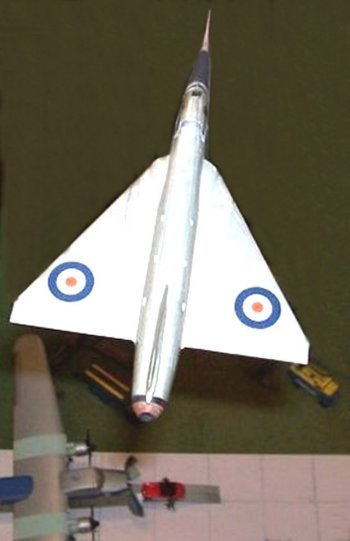 "In December 2008 a wheels-up model of Fairey Delta 2 WG774 joined a number of 1/72 scale aircraft and other vehicles from the Jet Age Museum Reserve Model Collection and Railway Operating Department in the ""Toys! Toys! Toys!"" exhibition at Gloucester Folk Museum."