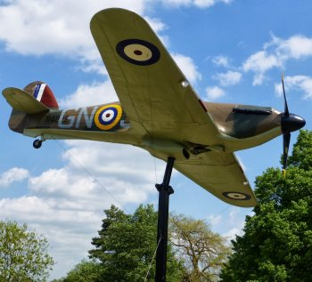 "Happily, the ""Windsor Hurricane"" - full sized replica built by Gate Guardians (UK) Ltd - was unveiled in Windsor's Alexandra Gardens, close to the River Thames and Camm's former home in Alma Road - on Friday 20 July 2012. Councillor Dee Quick commented: ""Windsor is proud of its close associations with Sir Sydney Camm – a man whose engineering and design brilliance played a key role in this country's defence during the Second World War. The council is delighted to be involved with the society in making this memorial a reality and I am sure it will be a tremendous attraction for people of all ages in the years to come."""