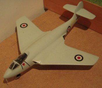 Sydney Camm's first straight winged jet prototype, the Hawker P1040, had first flown on 2 September 1947 and entered Royal Navy service as the Sea Hawk. The swept wing P1052 – one of two aircraft ordered under Air Ministry Specification E 38/46 - followed on 19 December 1948 to explore work done by German aerodynamicists and was again powered by a single Rolls Royce Nene turbine. Although deck landing trials were undertaken aboard HMS Eagle in May 1952, experience gained by VX 272 (pictured above) was to lead not to a naval aircraft but to Britain's most widely exported land based swept wing fighter: The Hawker Hunter.